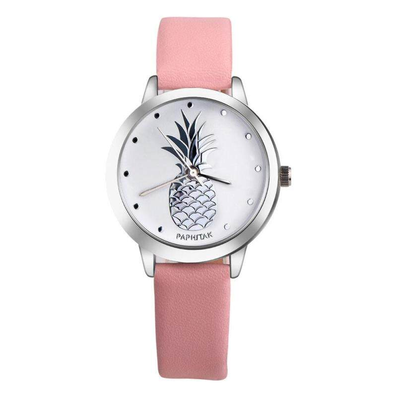 Oscar Store Unisex Watch Leather Band Pinapple Fruits Student Leisure Simple Accessory Malaysia