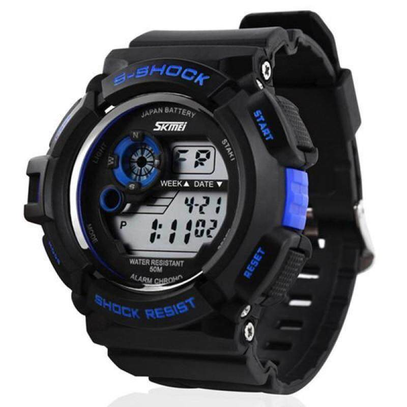 Outdoor SKMEI Sports Watch Waterproof Shockproof Men Mountaineering Electronic watch Malaysia