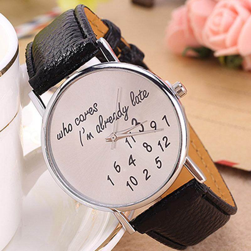 PerfectWorld Cute Funny Concise Women Jelly Color PU Band Analog Quartz Watches Wrist Watch Malaysia