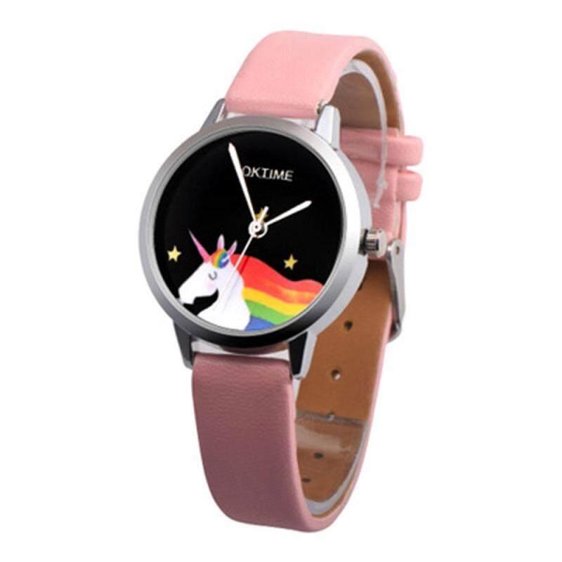 PerfectWorld Student Watch Wristwatches Rainbow Unicorn Pattern PU Strap Boys Girls Colorful Malaysia