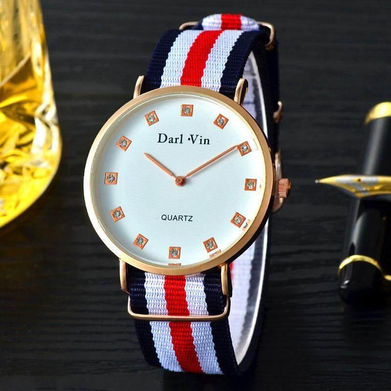 PerfectWorld Womens Fashion Wrist Quartz Watch Stripe Nylon Band Jewelry Strap Bracelet Malaysia