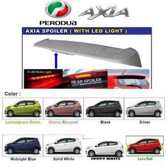 Perodua AXIA OEM Spoiler with break LED light and painting - Black