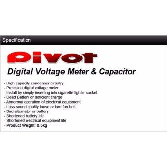 PIVOT V Capa Volt Meter Voltage Stabilizer Red Display Japan FuelSaver KING Pivot Mega raizin - 4