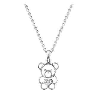 Harga POH KONG QQ Baby Bear 9k White Gold with diamond Jewellery Gift ForWomen & Kids- QQ Baby Bear Diamond Pendant, Loket Emas Putih