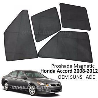 Proshade Magnetic Custom Fit OEM Sunshades/ Sun shades for HondaAccord 2008-2013 (4PCS)