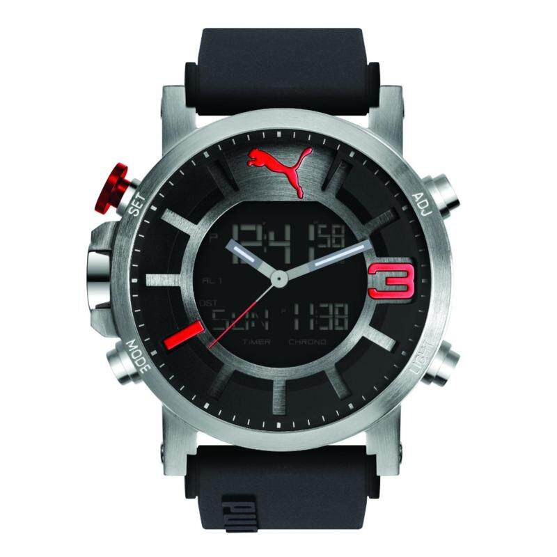 Puma PU911371001 Ultrasize Ana-Digital Silver Red Men Watch Malaysia
