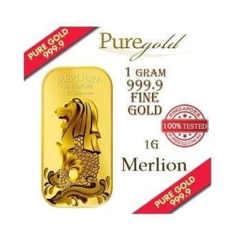 Puregold Singapore Merlion SEA Gold Bar 1g.