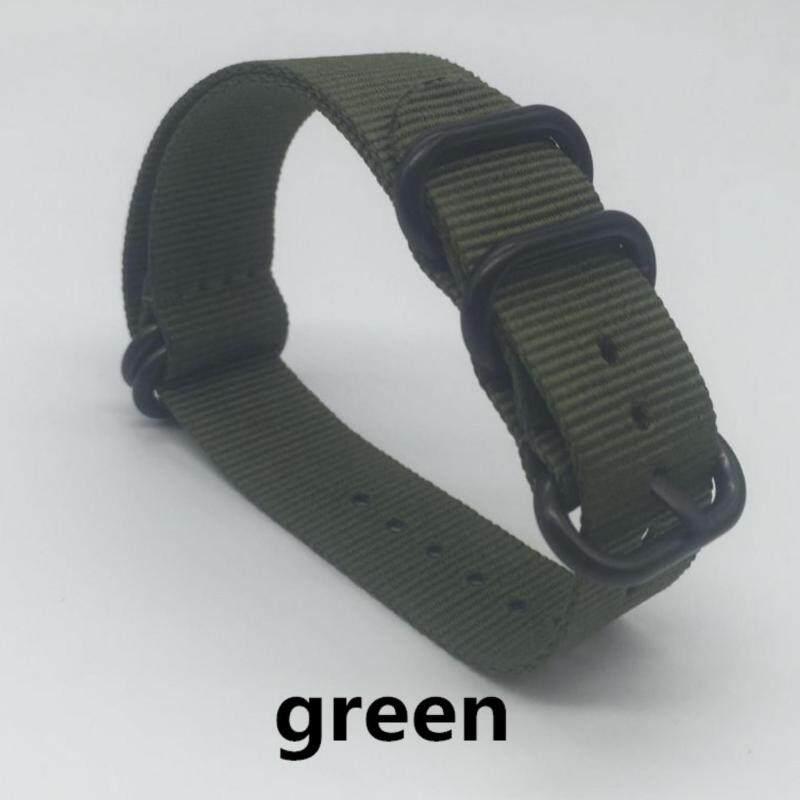 Quality 22mm Nylon Watch Band Strap Zulu NATO Strap 3.0 Buckle for Sport Wristwatch - GREEN Malaysia