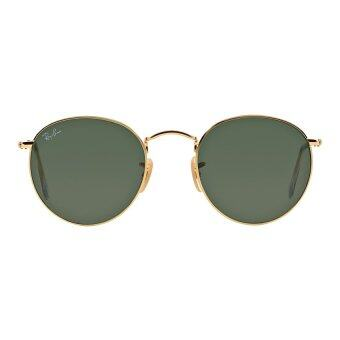 Ray-Ban Round Crystal Green Lenses RB3447 001 Arista Sunglasses[50]