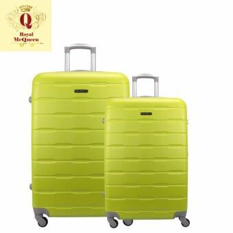 Harga Royal McQueen Hard Case 4 Wheels Spinner Light Weight (20+24)Luggage - QTH 6910 (GREEN)