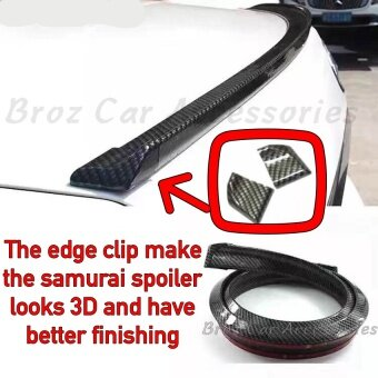 Samurai Rear Rubber Bonnet Spoiler - Carbon