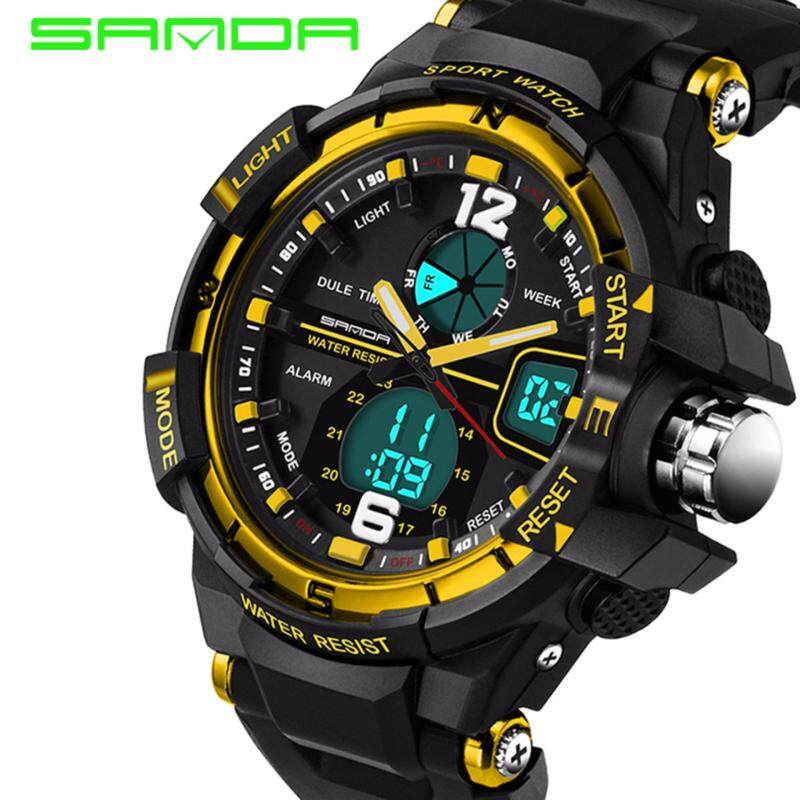 SANDA 289 Waterproof Outdoor Multifunctional Sports Mens Quality Shockproof Digital Watch (Gold) Malaysia