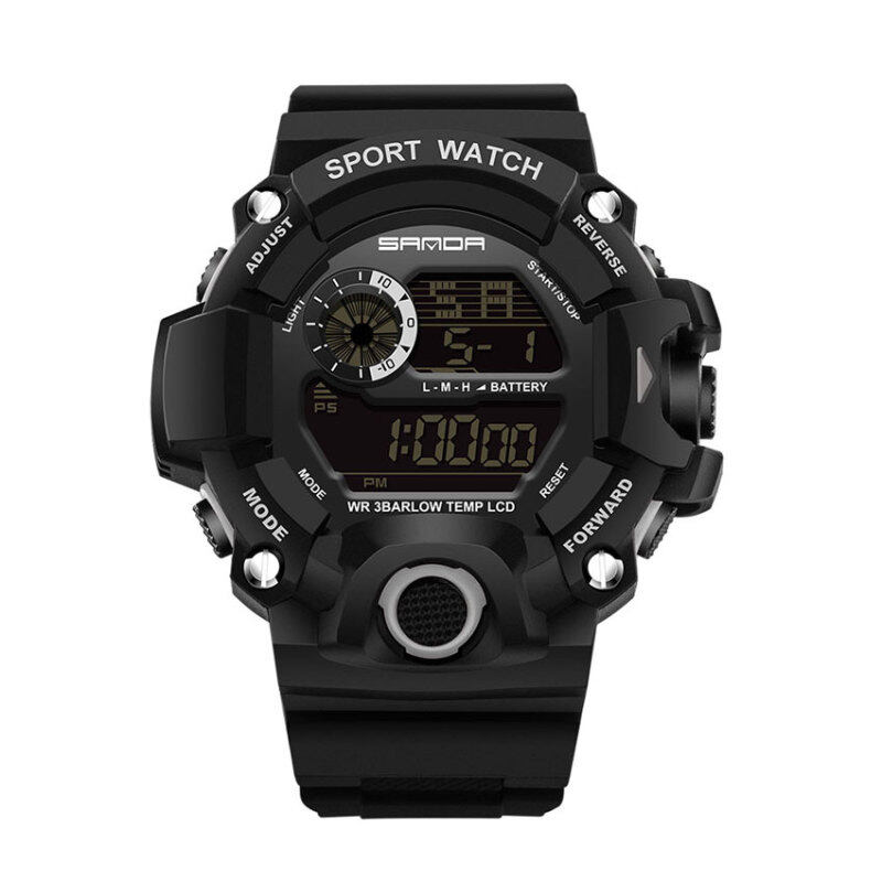 SANDA 326 Mens Outdoor Sports Multifunctional Waterproof Electronic Watch (black) Malaysia