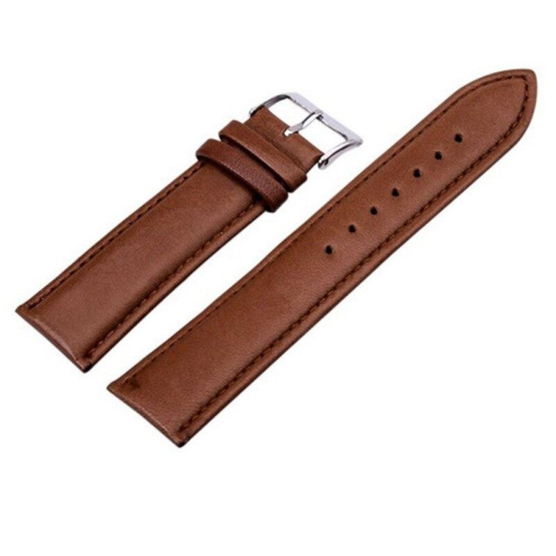 Sanwood® Unisex Fashion Faux Leather Universal Watch Strap Band Replacement Wristband 20mm (Brown) Malaysia