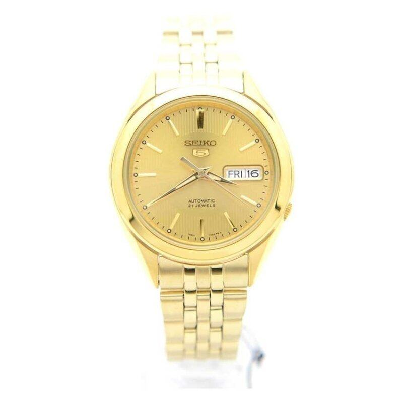 Seiko 5 SNKL28K1 Automatic Gold Dial Stainless Steel Mens Analog Casual Watch Malaysia