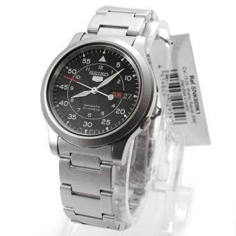 Seiko Watch 5 Automatic Silver Stainless-Steel Case Stainless-SteelBracelet Mens NWT + Warranty SNK809K1