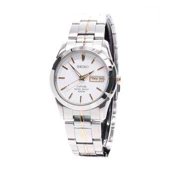 Seiko Watch Sapphire Titanium Multicolored Stainless-Steel Case Two-Tone-Stainless-Steel Bracelet Mens Japan NWT + Warranty SGG719P1