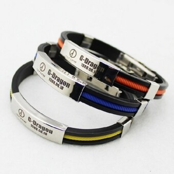 Harga Series of the same paragraph BIGBANG rights chi long gd iiperipheral accessories silica gel titanium steel bracelet stainlesssteel bracelet bangle