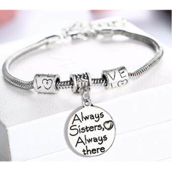 Sinma Family Gift Set Charm Bracelet - Always Sister Always There