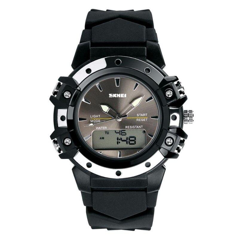 SKMEI 0821 Dual Time High Quality Quartz-Digital Wristwatch Excellent 5ATM Water Resistant AnalogDigital Outdoor Sports Watch Malaysia