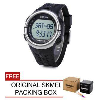 Skmei 1058 Heart Rate Monitor Pedometer Sport Watch (Black) FREEOriginal SKMEI Box