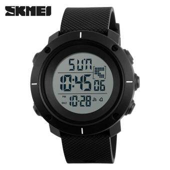 Harga SKMEI 1213 Men Fashion Outdoor Wristwatches Military 50M WaterproofLED Digital Watch Clock Men Sports Watches - Black