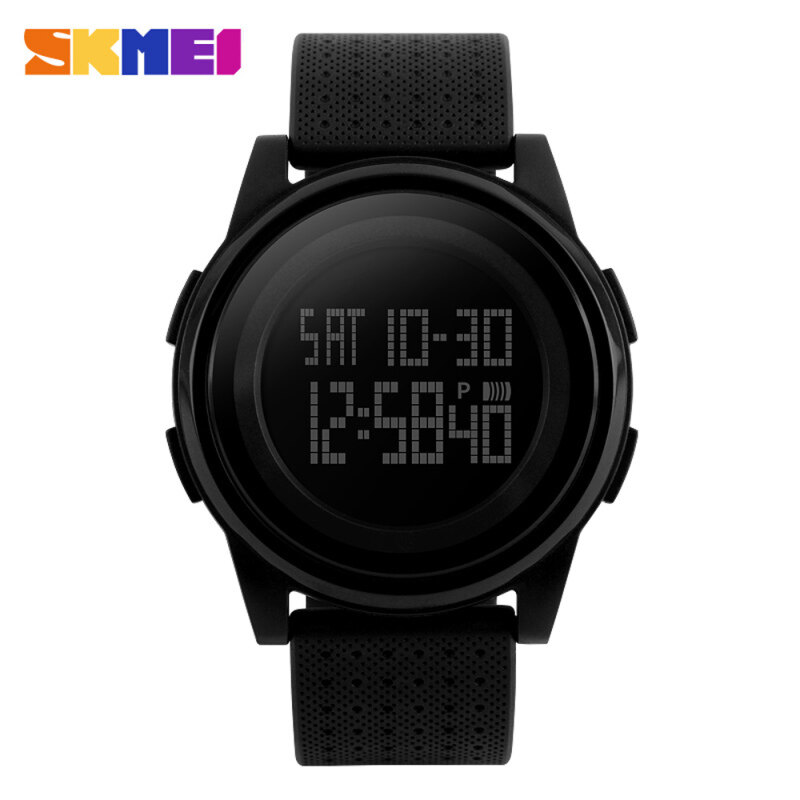 SKMEI 5ATM Water Resistant Fashion Digital Casual Sports Wrist Watch Classy Lightweight Watch with Calendar Malaysia