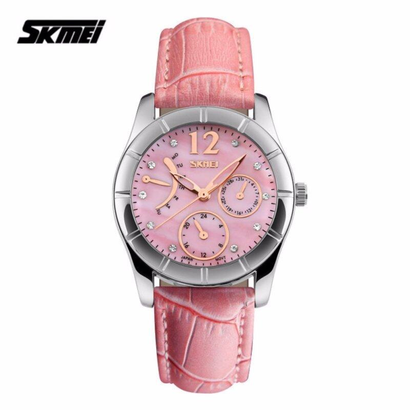 SKMEI 6911 Ladiess Fashion Elegant Quartz Leather Strap Watch (Pink) Malaysia