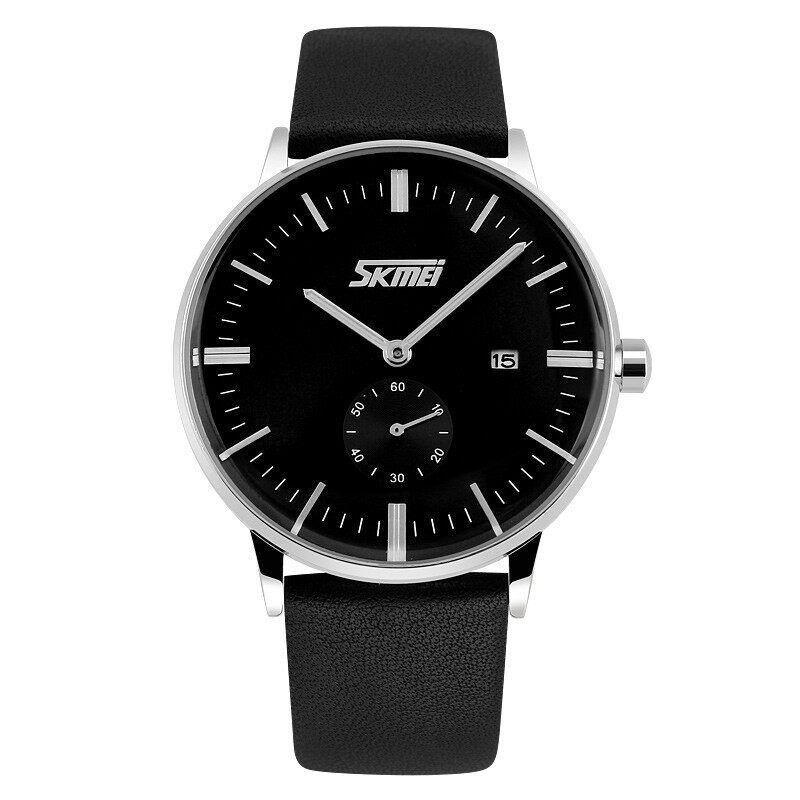 Skmei 9083 Men's Waterproof Leather Wristwatch Malaysia
