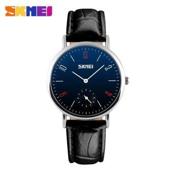 Harga SKMEI 9120 Classic Lovers Couple Watch Women Men's Watches QuartzWaterproof Wrist Watches- Men - Black Belt Blue