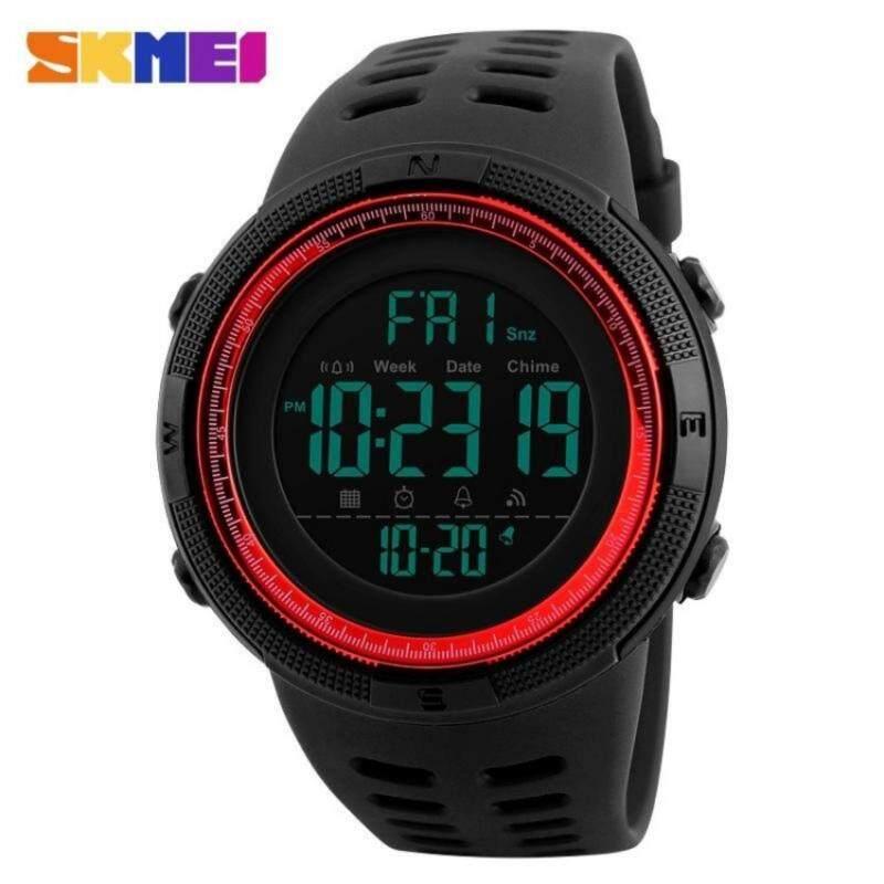 SKMEI Brand Mens Sports Countdown Double Time Alarm Chrono Digital 50M Waterproof Wristwatch Malaysia