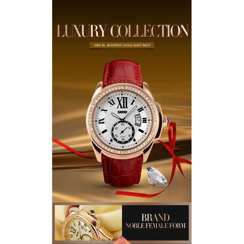 SKMEI Brand Watch 1147 Women Fashion Casual Quartz Watches Diamonds Leather Strap Sport Ladies Dress Wristwatches Clock Feminino Relogios Malaysia