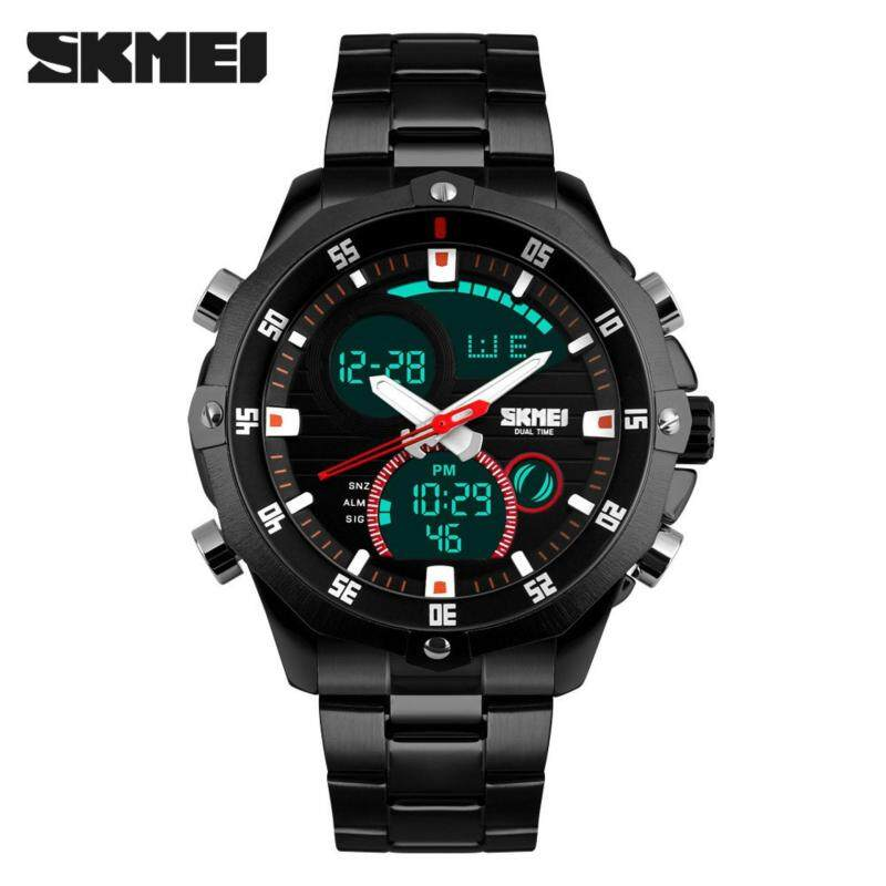 SKMEI Digital Quartz Stainless Steel Sports Watch Malaysia