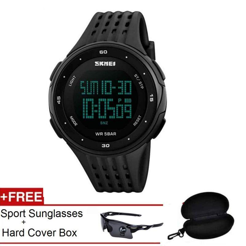 SKMEI LED Digital ]Military Men sports 5ATM Swim Climbing Outdoor Watch+iShade Oulaiou Cycling Glasses Spectacles Sunglasses Men Malaysia