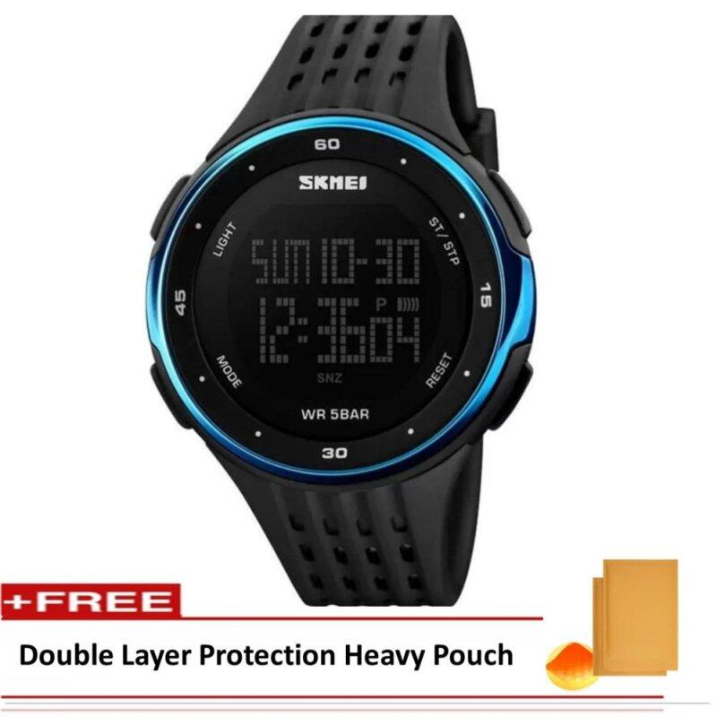 SKMEI LED Digital ]Military Men Sports Fashion Watches 5ATM Swim Climbing Outdoor Casual Wristwatches (Include Double Layer ProtectionHeavy Pouch) Malaysia