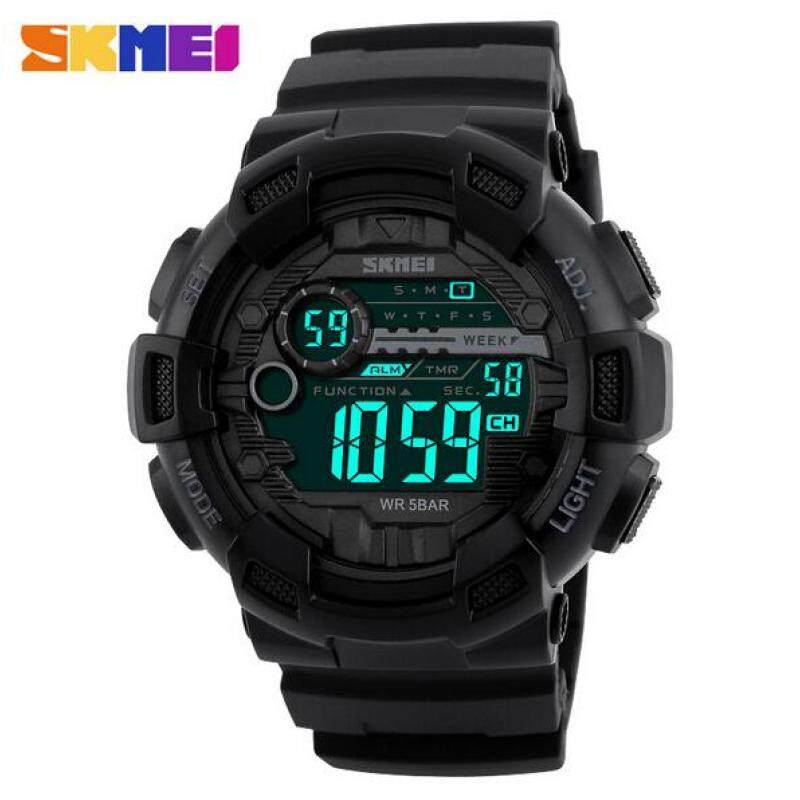 SKMEI Men Sport Watch Outdoor Waterproof Men s Electronic Watch 1243 Black Malaysia