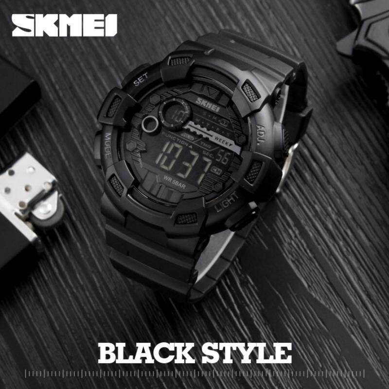 SKMEI Men Sports Watches 50M Waterproof Back Light LED Digital Watch Chronograph Shock Double Time Wristwatches 1243 Malaysia