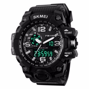 Harga SKMEI Men's Analog Quartz Digital Watch Men S SHOCK Military Watch50Meter Waterproof LED Light Sports Watches Men 1155 Original(Black)