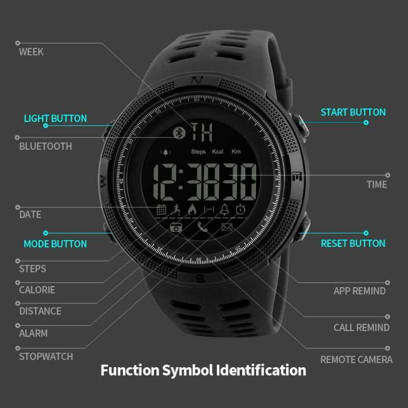 SKMEI Mens Smart Sport Watch Chrono Calories Pedometer Multi-Functions Sports Watches Reminder Digital Wristwatches Relogios 1250 Malaysia