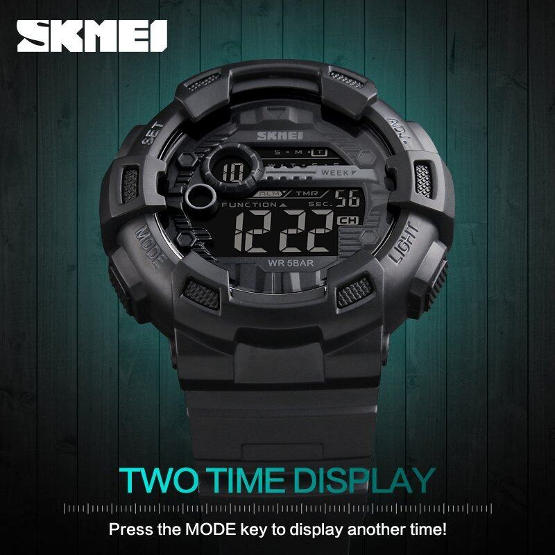 SKMEI Mens Sports Watches LED Digital Military Watch 50M Waterproof Casual Men Alarm Wristwatches Relogio Masculino 1243 Malaysia