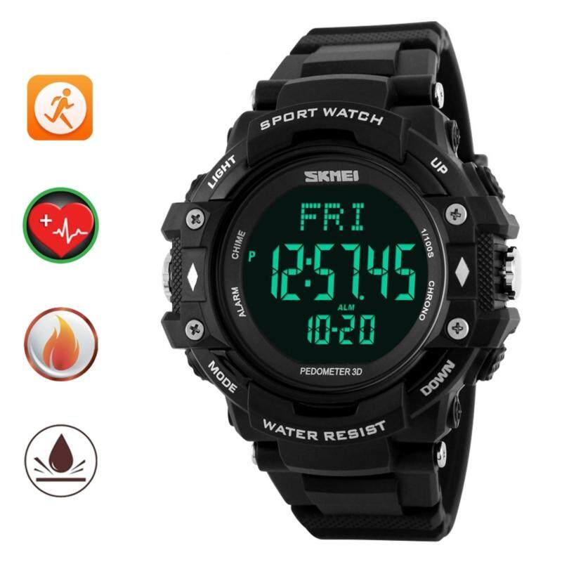 SKMEI Pedometer Heart Rate Monitor Waterproof Sports Watches Calories Counter Fitness Tracker Digital Watches Men Malaysia