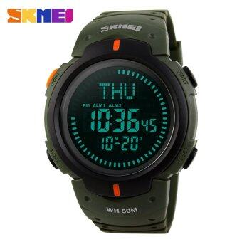 Harga SKMEI Watch 1231 Outdoor Sports Compass Watches Hiking Men Watch Digital LED Electronic Watch Man Sports Watches Chronograph Men Clock