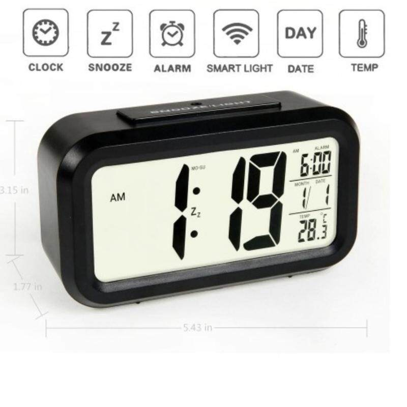 Smart LCD digital alarm clock-Black Malaysia