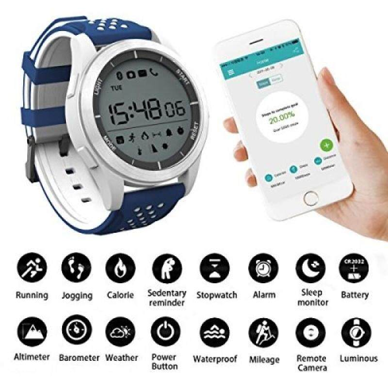 Smart Watches Sunsbell Bluetooth Smart Watch for Android/Iphone, Waterproof Fitness Tracker Watch Camera Pedometer Anti-Lost Watch Altimeter Barometer Malaysia