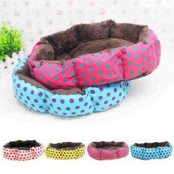 Harga Soft Bed Pet Cushion Sleeping Mat for Dog Comfortable Dot PrintedPlush Bed