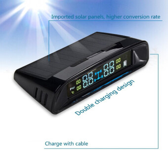 Solar Car Tire Pressure Monitoring Tpms System 4 External Sensors Colorful LCD