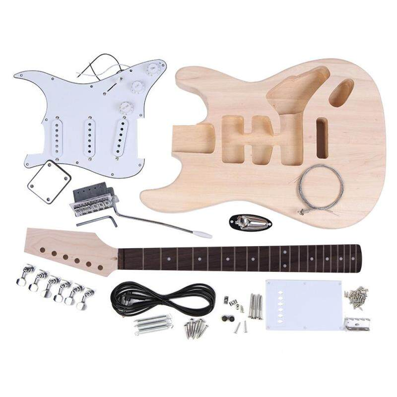 ST Style Electric Guitar Basswood Body Maple Neck Rosewood Fingerboard DIY Kit Set Malaysia