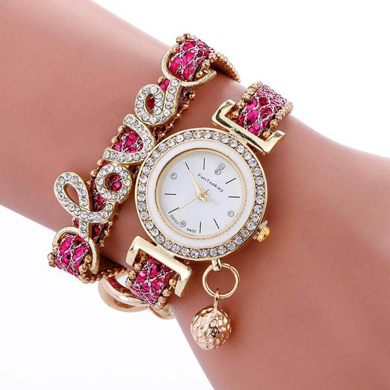 Stylish Simplicity Weave Bracelet Lady Womans Wrist Watch BK Malaysia