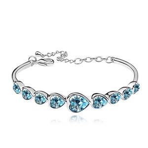 Swarovski High Quality Heart Bracelet Made with Swarovski ElementsCrystal From Swarovski Pulseira Women Bijoux for Wedding - 3