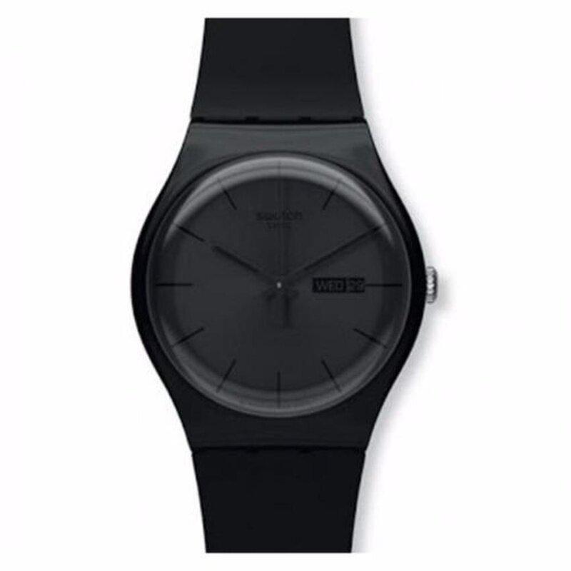 Swatch Unisex Black Rebel Silicone Strap Watch SUOB702 Malaysia